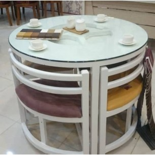 میز نهارخوری کمجا صفحه چوب